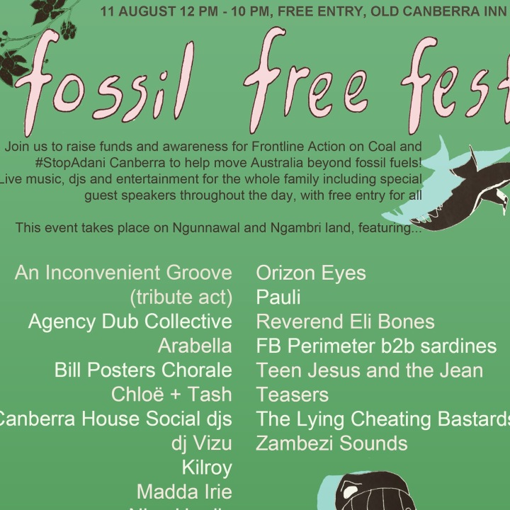 Fossil Free Fest phone going gumby 002
